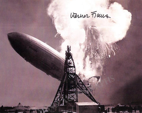 Hindenburg Zeppelin - Photo Signed by Warner Franz