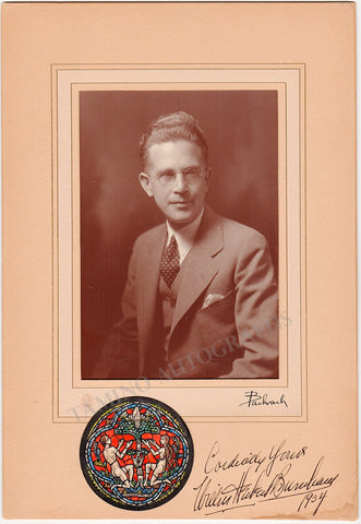 Burnham, Wilbur Herbert - Signed Photo 1934