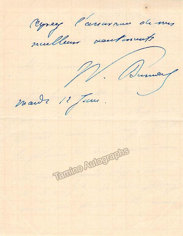 Busnach, William - Autograph Note Signed