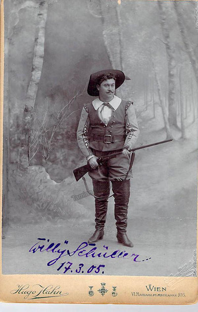 Schuller, Willy - Signed Cabinet Photo 1905