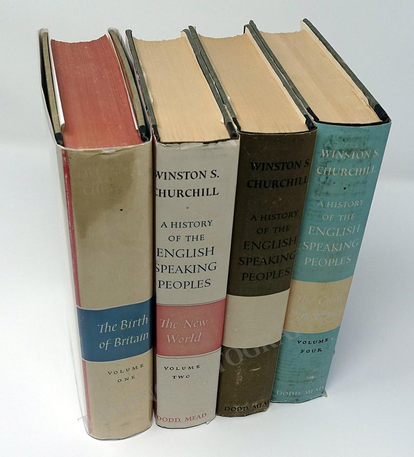 "Churchill, Winston - Signed Book ""A History of the English Speaking Peoples"" (4 Volumes)"