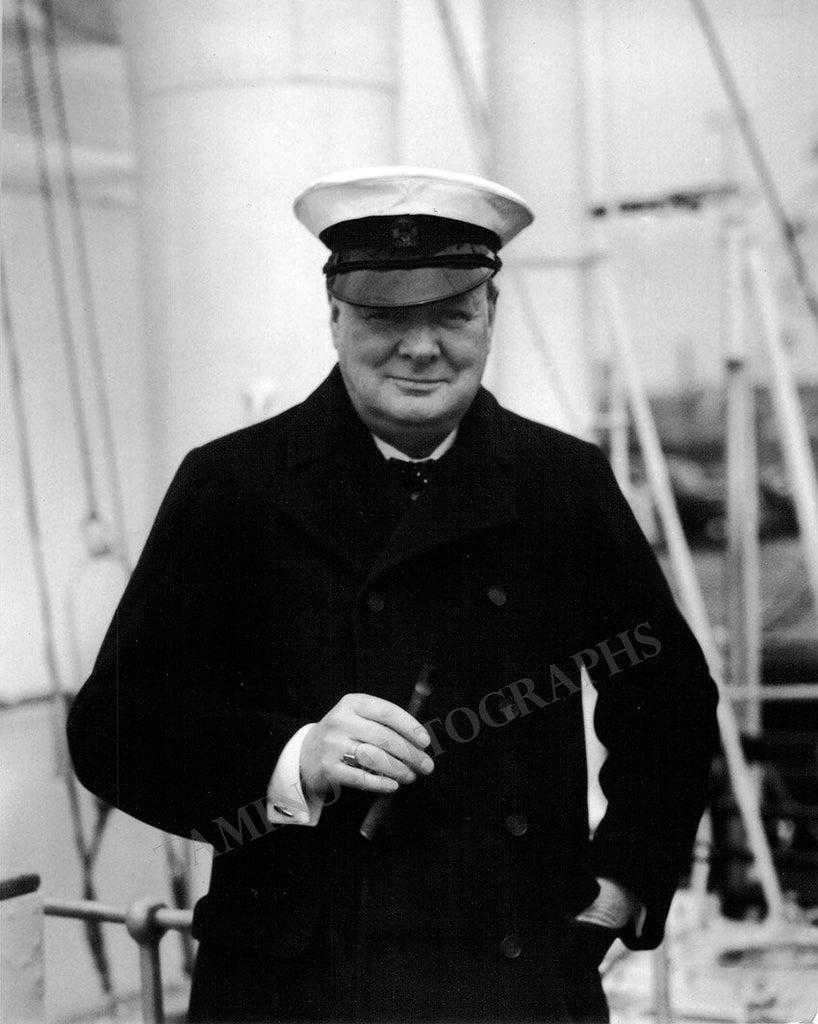 Churchill, Winston - Signature and Photo