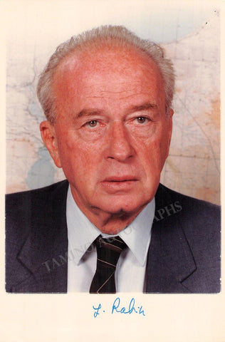 Rabin, Yitzhak - Signed Photo
