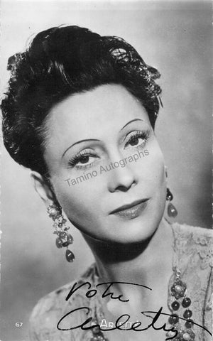 Arletty - Signed Photograph