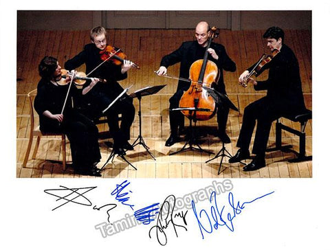 Artemis Quartet - Signed Photo in Performance