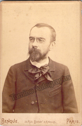 Bruneau, Alfred - Cabinet Photo - Tamino Autographs  - 1