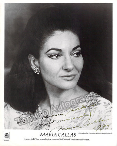 Callas, Maria - Signed Photo 1973 - TaminoAutographs.com