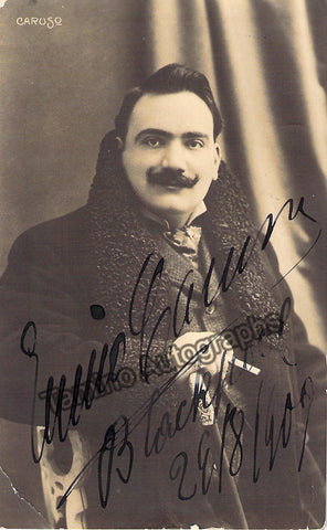 Caruso, Enrico - Signed Photo Postcard 1909 - TaminoAutographs.com