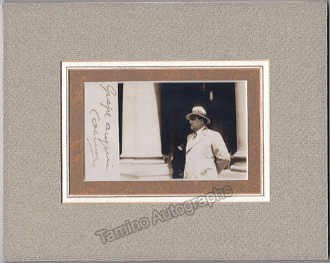 Caruso, Enrico - Signed Photo Postcard Matted - TaminoAutographs.com