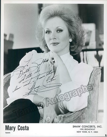 COSTA, Mary - TaminoAutographs.com