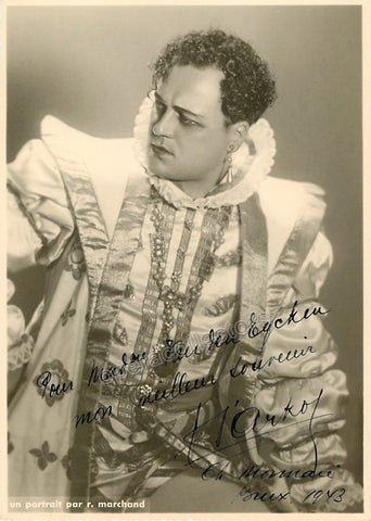 D'Arkor, Andre - Signed Photo in Rigoletto 1943 - TaminoAutographs.com