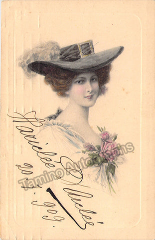 Darclee, Hariclee - Signed Postcard 1909