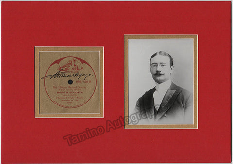 De Gogorza, Emilio Eduardo - Signed Record Label + Photo - TaminoAutographs.com