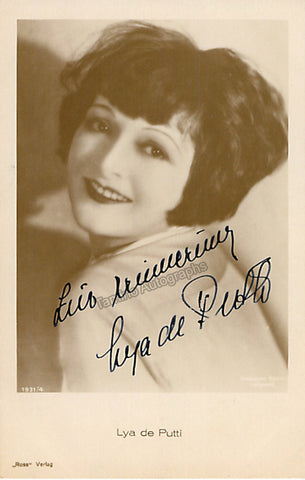 De Putti, Lya - Signed Photo Postcard - TaminoAutographs.com