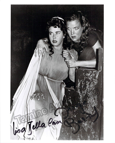 Della Casa, Lisa and Borkh, Inge - Double Signed Photo in Elektra - TaminoAutographs.com