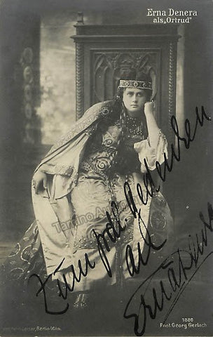 Denera, Erna - Signed Photo Postcard as Ortrud - TaminoAutographs.com