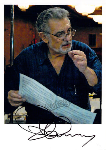Domingo, Placido - Signed Photo