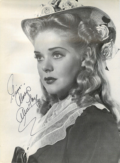 Faye, Alice - Signed Photo
