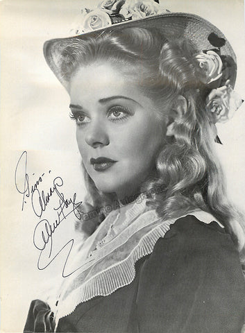 Faye, Alice - Signed Photo - TaminoAutographs.com