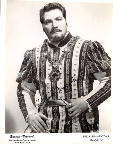 Fernandi, Eugenio - Signed Photo in Rigoletto - TaminoAutographs.com