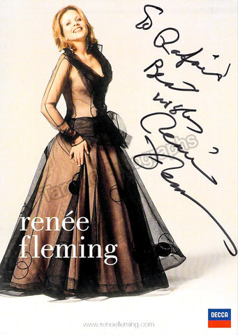 FLEMING, Renee - TaminoAutographs.com
