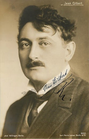 Gilbert, Jean - Signed photo postcard - Tamino Autographs