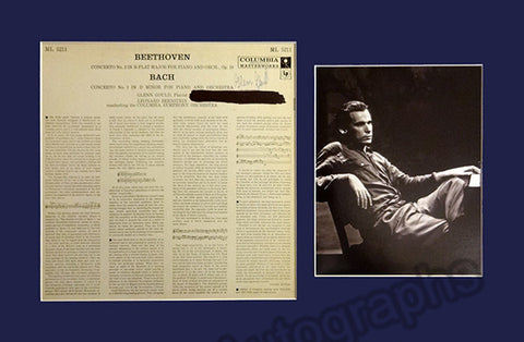 Gould, Glenn - Signed LP record with Photo - TaminoAutographs.com