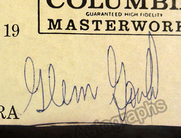 Gould, Glenn - Signed LP record with Photo - Tamino Autographs  - 2