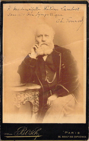 Gounod, Charles - Signed Cabinet Photo - TaminoAutographs.com