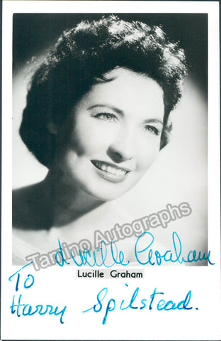 GRAHAM, Lucille - TaminoAutographs.com