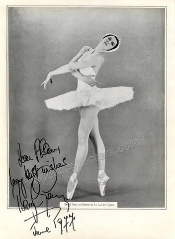 Grey, Beryl - Signed Photo in Swanlake 1977