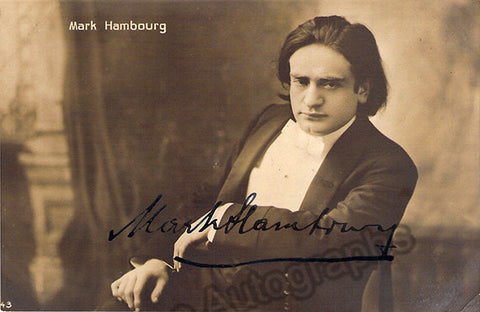 Hambourg, Mark - Signed Photo Postcard - TaminoAutographs.com