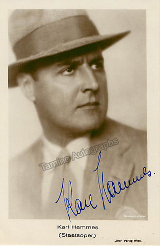 Karl Hammes Signed Photo Postcard, Karl Hammes Autographs, Karl Hammes
