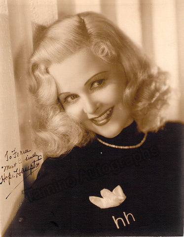 Hampton, Hope - Signed Photo
