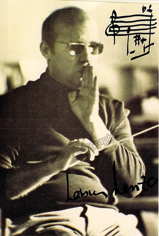 Henze, Hans Werner - Signed Photo with Music Quote 1988
