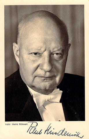 Hindemith, Paul - Signed Photo
