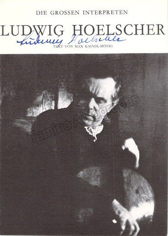 Hoelscher, Ludwig - Signed Promo Photo