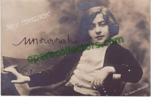Horszowski, Mieczyslaw - Early Signed Photo Postcard