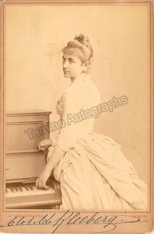 Kleeberg, Clotilde - Signed Cabinet Photo - TaminoAutographs.com