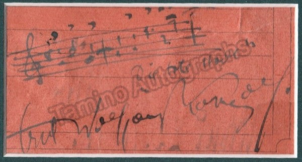 "Korngold, Erich - Autograph Music Quote from ""Die Tote Stadt"" Signed"