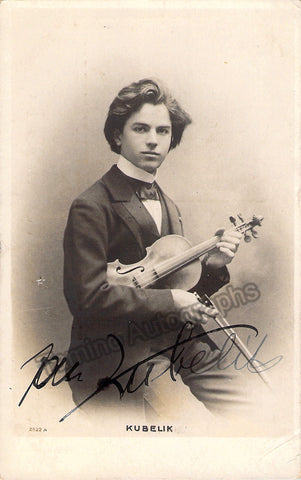 Kubelik, Jan - Signed photo postcard - TaminoAutographs.com