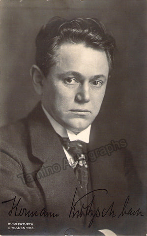 Kutzschbach, Herman Ludwig - Signed Photo Postcard - TaminoAutographs.com