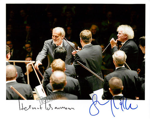 Lachenmann, Helmut - Rattle, Simon - Double Signed Photo