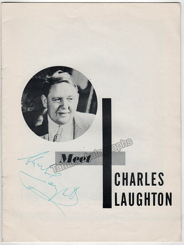Laughton, Charles - Signed Program with Photo - TaminoAutographs.com