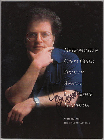 Levine, James - Signed Program Metropolitan Opera Guild 1996