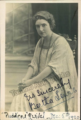 LEWIS, Bertha - TaminoAutographs.com