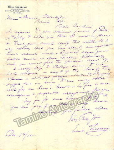 Liebling, Emil - Lot of 2 Autograph Letters Signed + Programs - TaminoAutographs.com