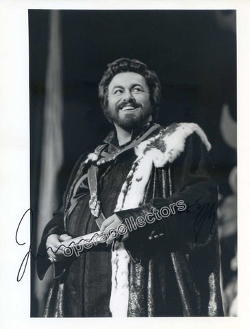 Pavarotti, Luciano - Signed Photo in Role - TaminoAutographs.com
