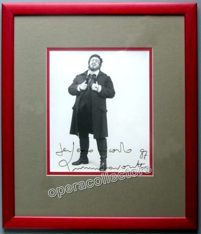 Pavarotti, Luciano - Signed Photo as Rodolfo in La Boheme - TaminoAutographs.com