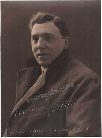 Pertile, Aureliano - Extra Large Signed Photo 1918 - TaminoAutographs.com